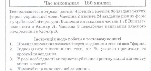 Пробне ЗНО з української мови і літератури