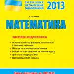 ЗНО Математика 2013 Нелін онлайн