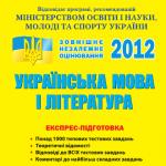 Експрес підготовка ЗНО з української мови та літератури