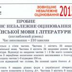 Пробне ЗНО 2015 з української мови і літератури