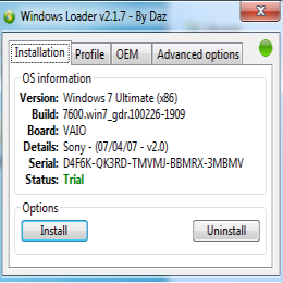 windows loader 2.1.7