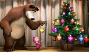 """Сценарий на новый год """"Маша и Медведь"""""""