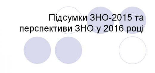 Підсумки ЗНО 2015. Перспективи ЗНО 2016