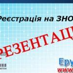 Презентація реєстрація на ЗНО 2016