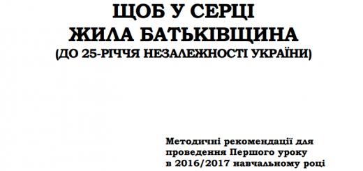 Конспекти першого уроку, незалежність України