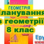 Планування з геометрії 8 клас (нова програма)