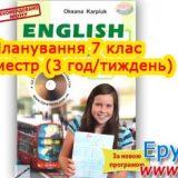 Планування англійська мова 7 клас Карп'юк 2 семестр (3 години)