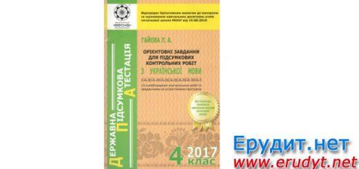 Орієнтовні завдання для підсумкових контрольних робіт з української мови, 4 клас, Гайова
