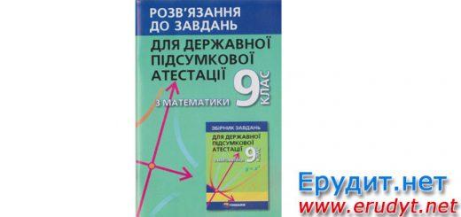 Відповіді ДПА 2017 Математика, Гімназія, Щербань