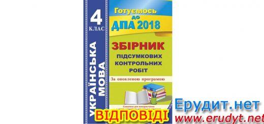 Відповіді до збірника ДПА з української мови 4 клас, Сапун