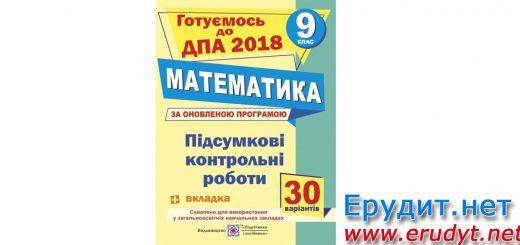 Підсумкові контрольні роботи Математика 9 клас, Березняк
