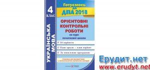 Орієнтовні контрольні роботи Українська мова, 4 клас, Сапун, Підручники і посібники