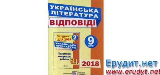 Відповіді ДПА 2018 Українська література, Витвицька