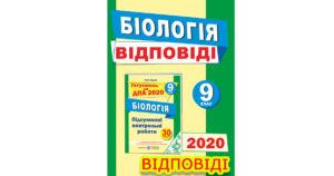 Відповіді ДПА 2020 Біологія, Тернопіль