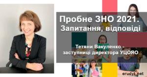 Тетяна Вакуленко - заступниця директора Українського центру оцінювання якості освіти