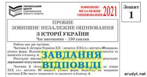 Пробне ЗНО 2021 з історії України